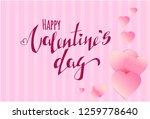 vector valentines day banner...   Shutterstock .eps vector #1259778640