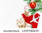christmas background on the... | Shutterstock . vector #1259780659