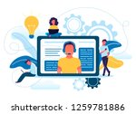 vector illustration concept of... | Shutterstock .eps vector #1259781886