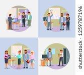hiring process icon set. vector ... | Shutterstock .eps vector #1259787196