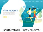 stay healthy landing page... | Shutterstock .eps vector #1259788096