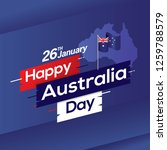 happy australia day with map... | Shutterstock .eps vector #1259788579