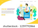 online assistant landing page... | Shutterstock .eps vector #1259792866