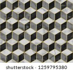 marble mosaic seamless pattern... | Shutterstock .eps vector #1259795380