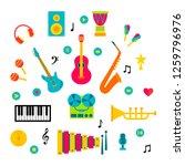 set of music instruments on... | Shutterstock .eps vector #1259796976
