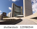 Stock photo toronto oct nathan phillips square and city hall become the landmark of the city on october 125980544