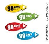 90 days money back colorful... | Shutterstock .eps vector #1259809570