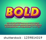 3d cartoon alphabet and... | Shutterstock .eps vector #1259814319