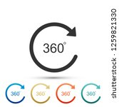 angle 360 degrees icon isolated ... | Shutterstock .eps vector #1259821330