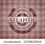 atlantic red emblem with... | Shutterstock .eps vector #1259823943