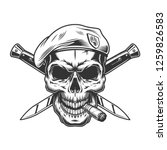 vintage monochrome soldier... | Shutterstock .eps vector #1259826583
