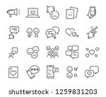 set of feedback line icons ... | Shutterstock .eps vector #1259831203