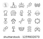 set of award line icons  such... | Shutterstock .eps vector #1259832073