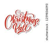 christmas ball calligraphy...   Shutterstock .eps vector #1259836093