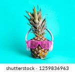fashionable trendy pineapple... | Shutterstock . vector #1259836963