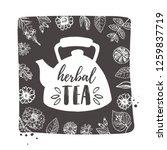 herbal tea concept design....   Shutterstock .eps vector #1259837719