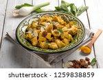 oriental meat stew with almond... | Shutterstock . vector #1259838859