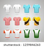 set of realistic sport t shirts ... | Shutterstock .eps vector #1259846263