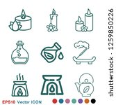 aromatherapy icon  accessory... | Shutterstock .eps vector #1259850226