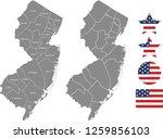 new jersey county map vector... | Shutterstock .eps vector #1259856103