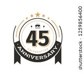 birtday vintage logo template... | Shutterstock .eps vector #1259856400