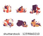 feminine concept illustration ... | Shutterstock .eps vector #1259860210