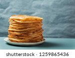 Small photo of Staple of yeast pancakes, traditional for Russian pancake week (Shrove tide)