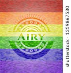 airy lgbt colors emblem  | Shutterstock .eps vector #1259867530