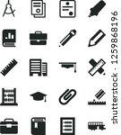 solid black vector icon set  ... | Shutterstock .eps vector #1259868196
