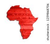 sketch wooden african continent ...   Shutterstock .eps vector #1259868706
