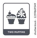 two muffins icon vector on... | Shutterstock .eps vector #1259869549