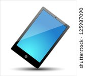 a vector tablet | Shutterstock .eps vector #125987090