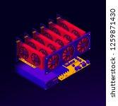 vector isometric illustration... | Shutterstock .eps vector #1259871430