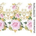 seamless pattern. decorative...   Shutterstock . vector #1259875696
