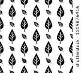 leaf icon seamless pattern... | Shutterstock .eps vector #1259876416