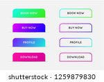 vector set of modern gradient... | Shutterstock .eps vector #1259879830
