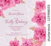 invitation or wedding card with ... | Shutterstock .eps vector #125988053