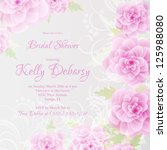 invitation or wedding card with ... | Shutterstock .eps vector #125988080