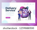 online delivery service concept ...