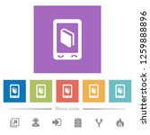 mobile dictionary flat white...   Shutterstock .eps vector #1259888896