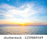 blue sky with clouds and sea ... | Shutterstock . vector #1259889349