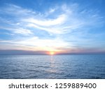 blue sky with clouds and sea ... | Shutterstock . vector #1259889400