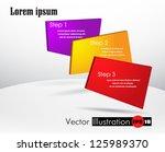 vector template numbered... | Shutterstock .eps vector #125989370