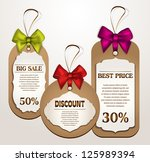 colorful ribbons label and tag... | Shutterstock .eps vector #125989394