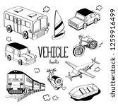 Vehicle Doodle. Hand Drawing...