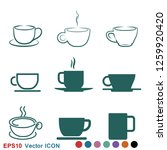coffee cup icon. coffee drink...   Shutterstock .eps vector #1259920420