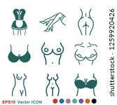 erotic vector icon for adult... | Shutterstock .eps vector #1259920426