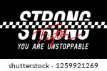 strong fighter you are... | Shutterstock .eps vector #1259921269