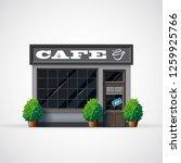 cafe shop icon. shop facade... | Shutterstock .eps vector #1259925766