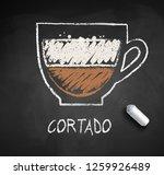 vector sketch of cortado coffee ... | Shutterstock .eps vector #1259926489